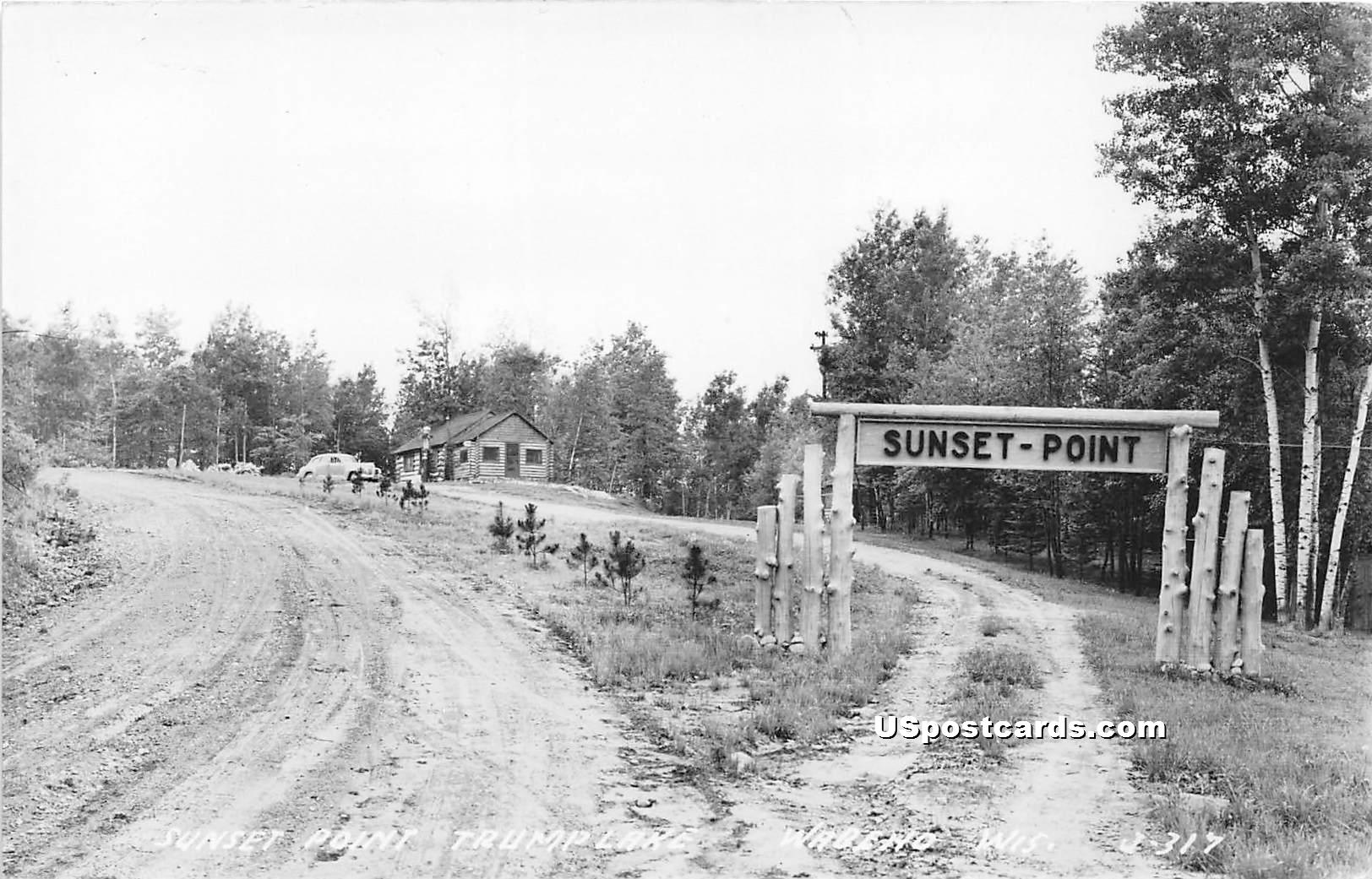 Sunset Point - Wabeno, Wisconsin WI Postcard