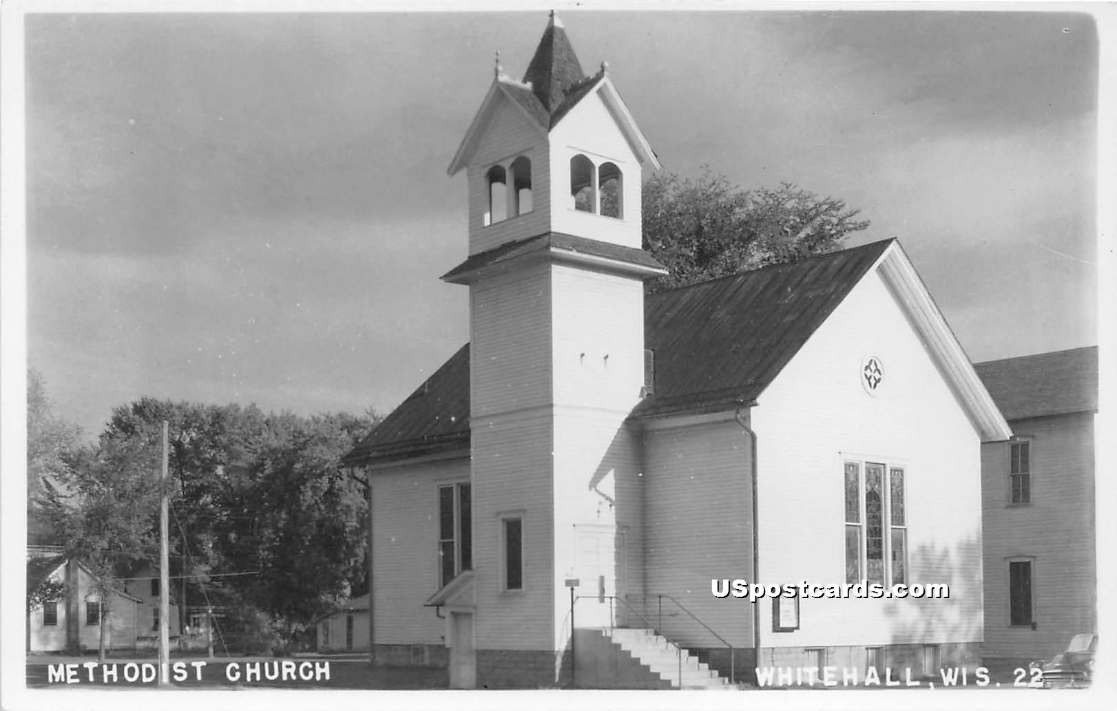 Methodist Church - White Hall, Wisconsin WI Postcard
