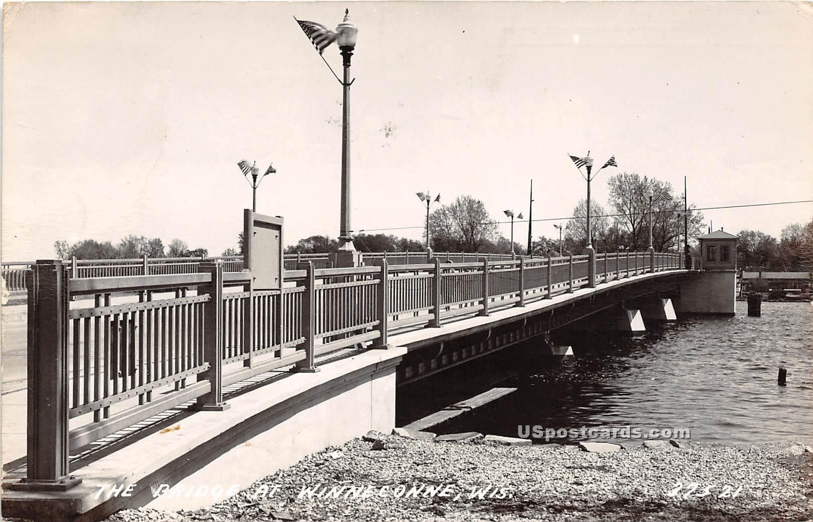 E Bridge Street - Winneconne, Wisconsin WI Postcard
