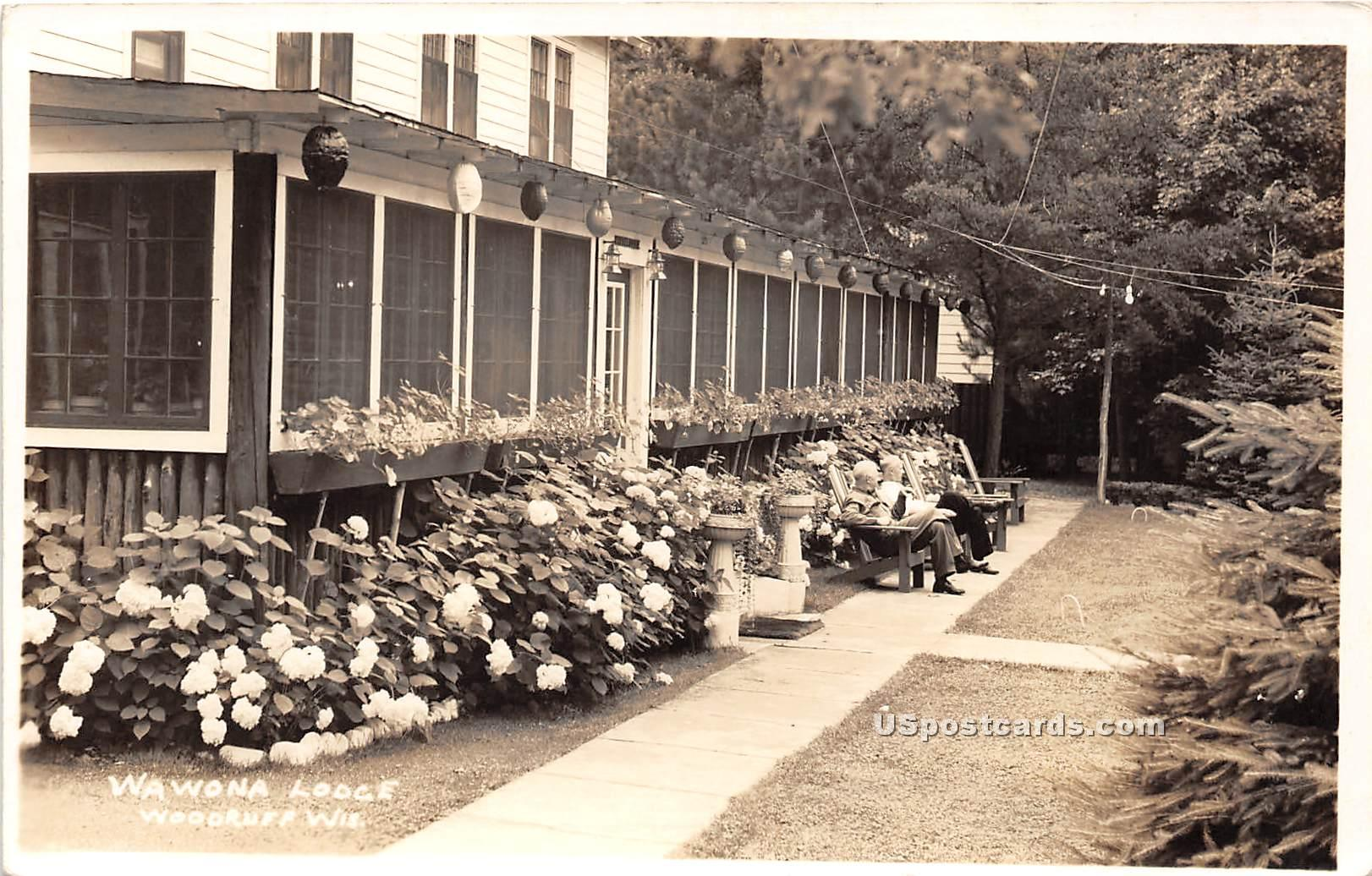 Wawona Lodge - Woodruff, Wisconsin WI Postcard