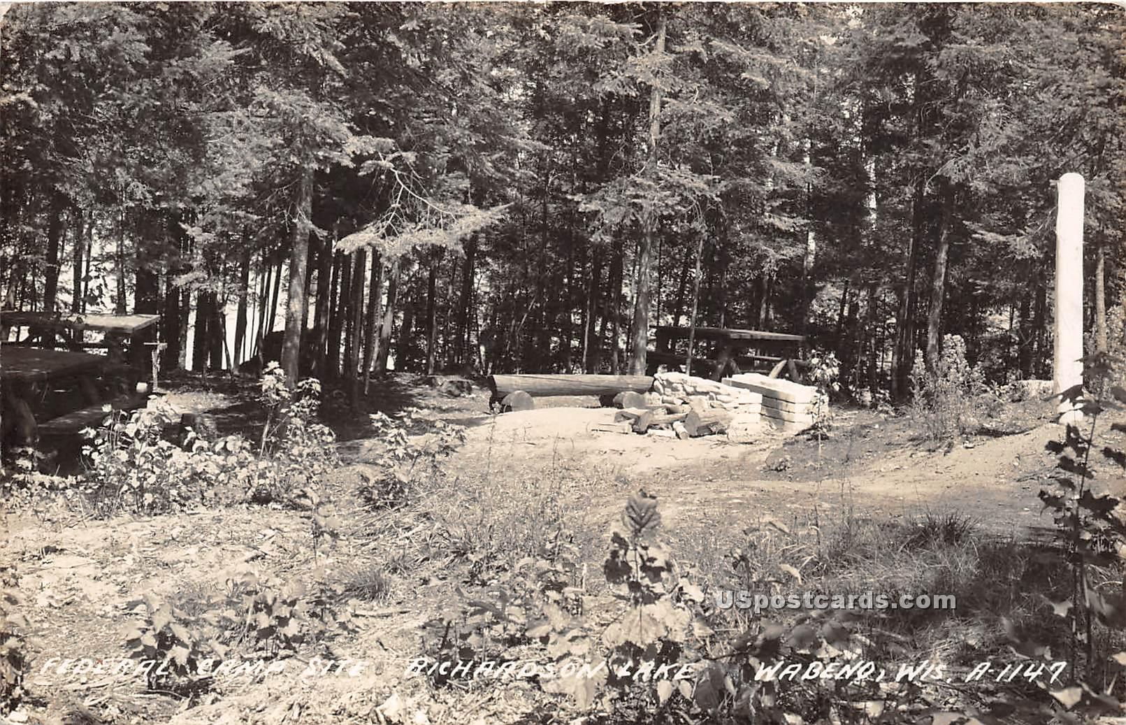 Federal Camp Site - Wabeno, Wisconsin WI Postcard