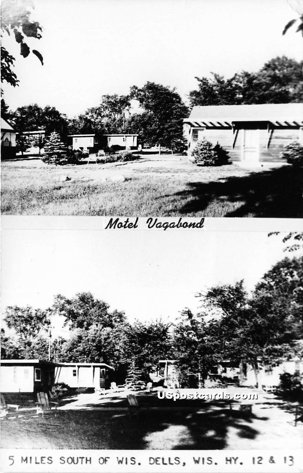 Motel Vagabond - Wisconsin Dells Postcards, Wisconsin WI Postcard
