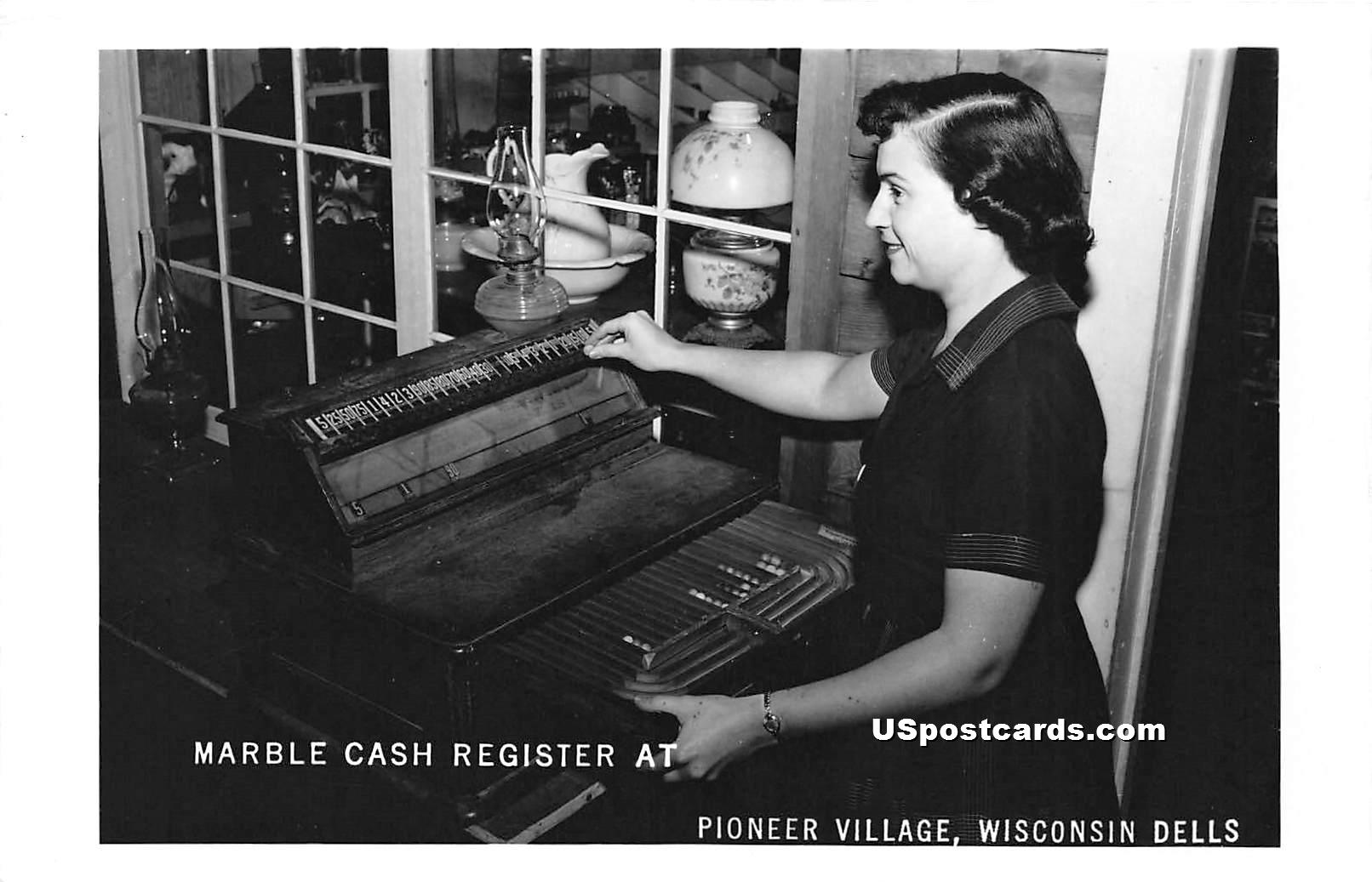 Marble Cash Register - Wisconsin Dells Postcards, Wisconsin WI Postcard