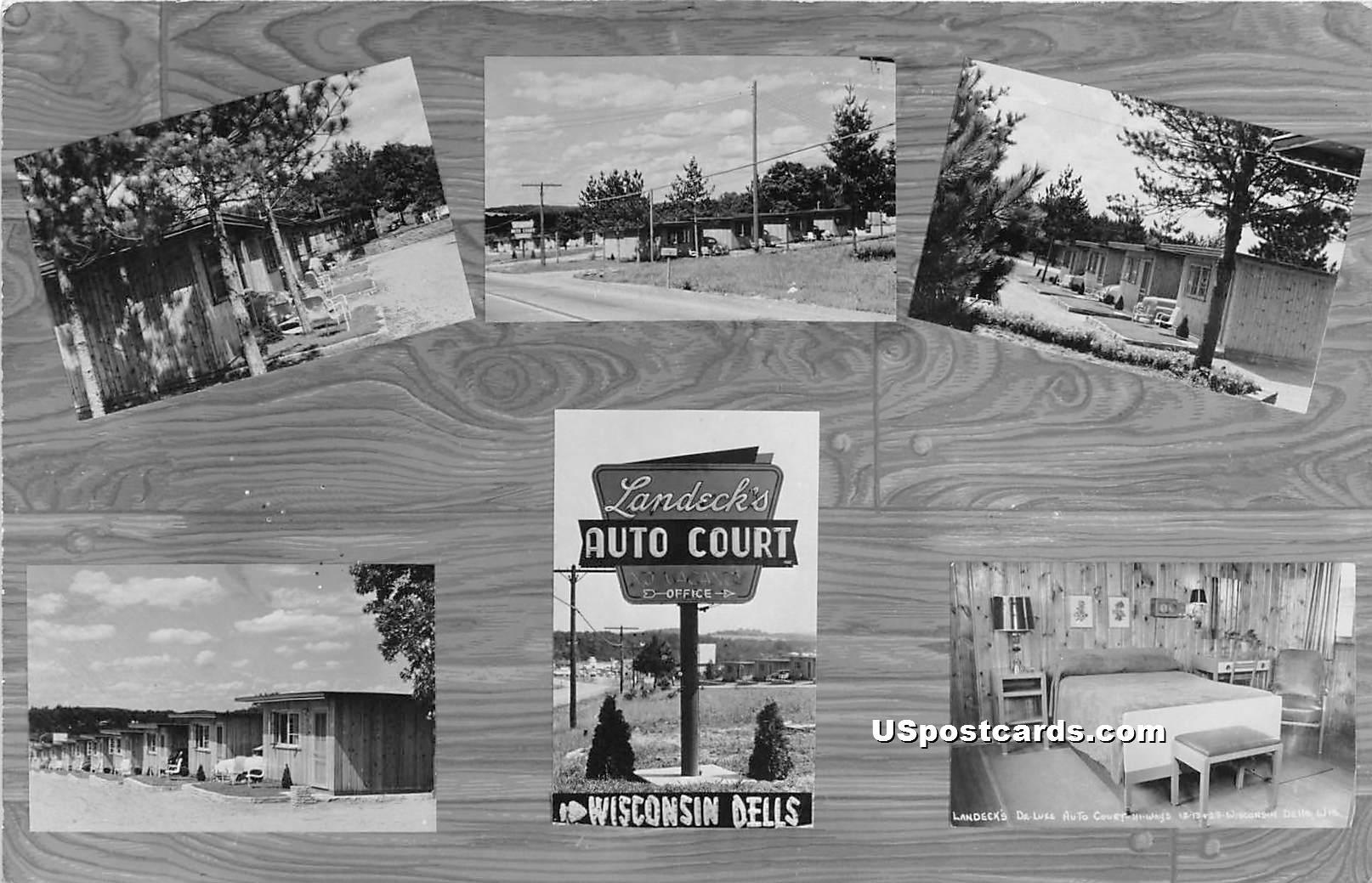 Landeck's Auto Court - Wisconsin Dells Postcards, Wisconsin WI Postcard