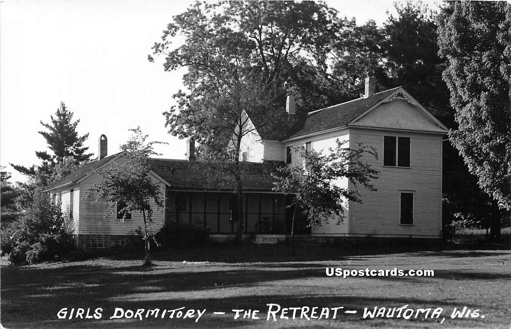 Girls Dormitory - Wautoma, Wisconsin WI Postcard