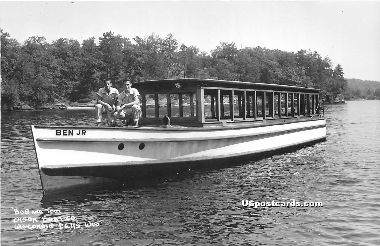Bob & Tom Olson Boat Co - Wisconsin Dells Postcards, Wisconsin WI Postcard