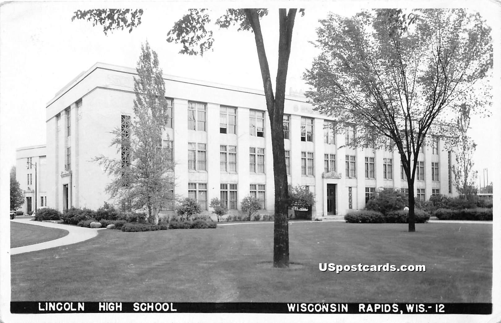 Llincoln High School - Wisconsin Rapids Postcards, Wisconsin WI Postcard
