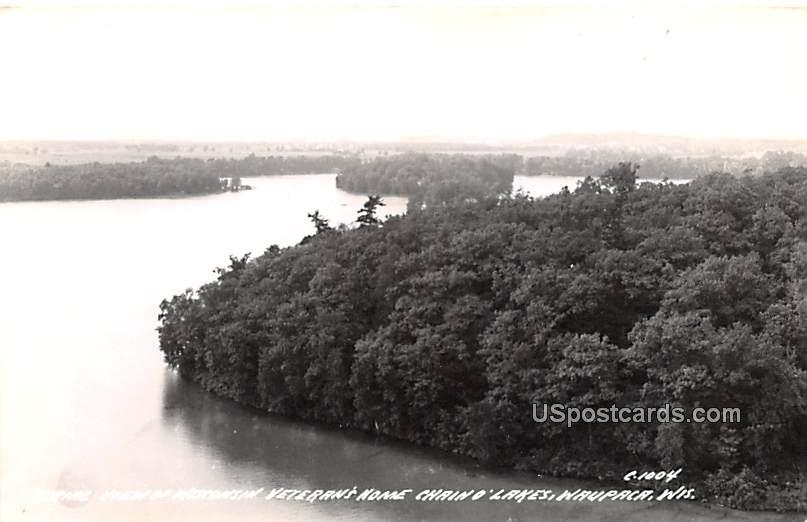 Aerial View of Wisconsin Veteran's Home - Waupaca Postcard