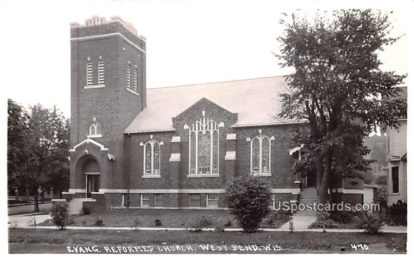 Evangelical Reformed Church - West Bend, Wisconsin WI Postcard