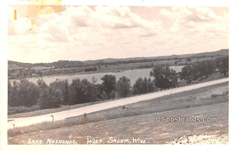 Lake Neshonoc - West Salem, Wisconsin WI Postcard