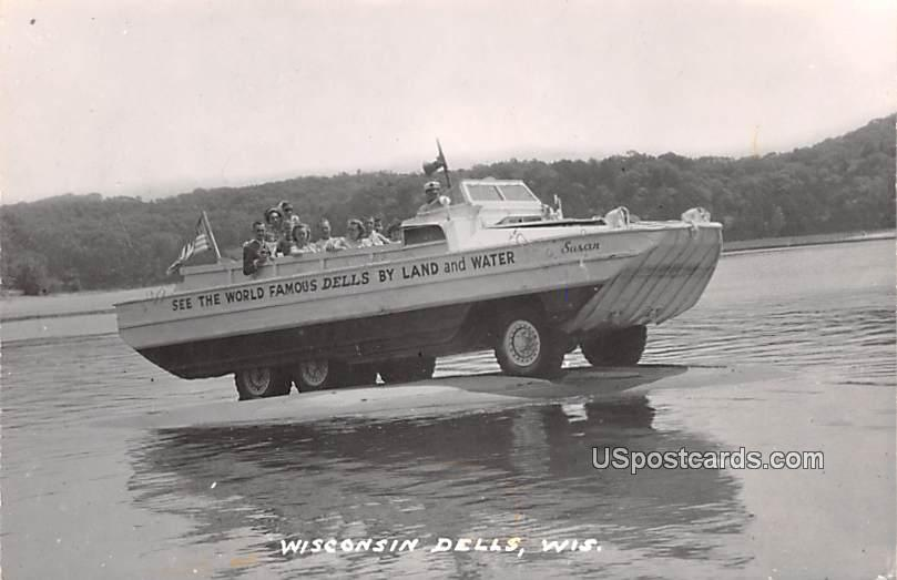 See the World Famous Dells by Land and Water - Wisconsin Dells Postcards, Wisconsin WI Postcard