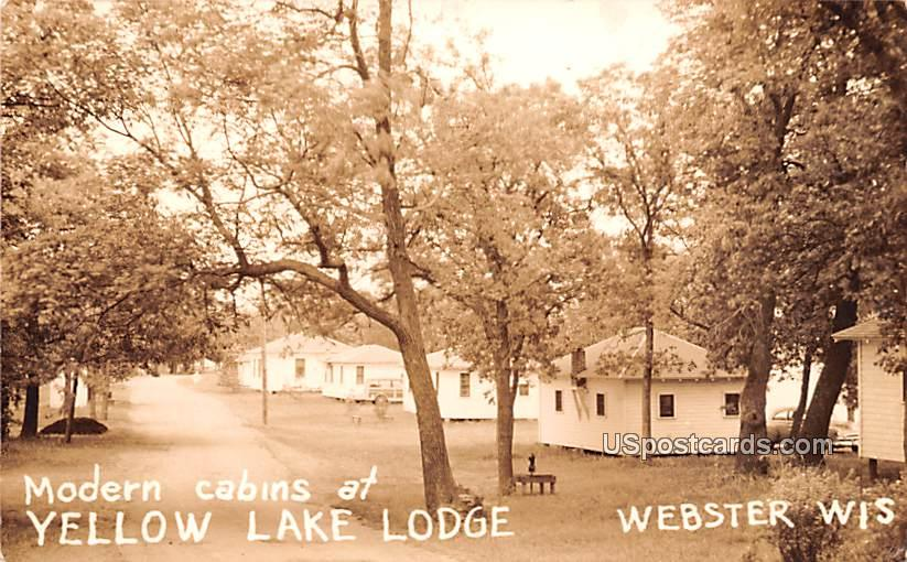 Modern Cabins - Webster, Wisconsin WI Postcard