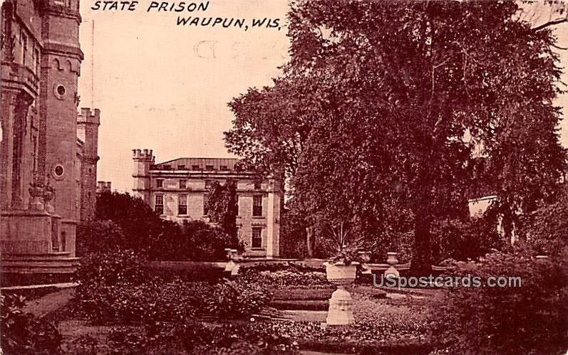 State Prison - Waupun, Wisconsin WI Postcard