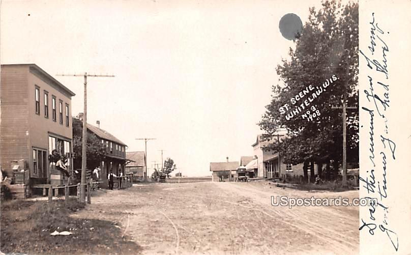 Street Scene - Whitelaw, Wisconsin WI Postcard