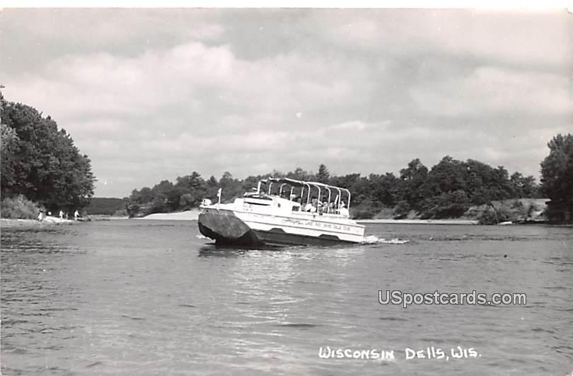 Boat on Water - Wisconsin Dells Postcards, Wisconsin WI Postcard