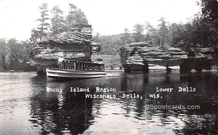Rocky Island Region - Wisconsin Dells Postcards, Wisconsin WI Postcard