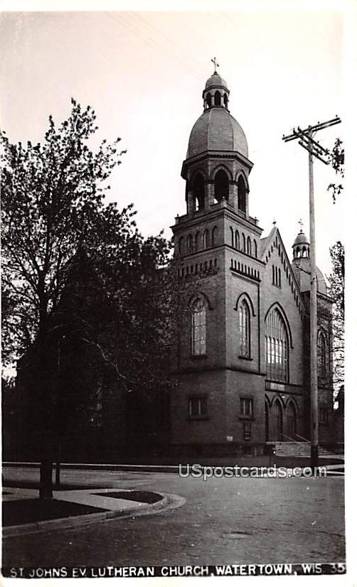 St Johns Evangelical Lutheran Church - Watertown, Wisconsin WI Postcard