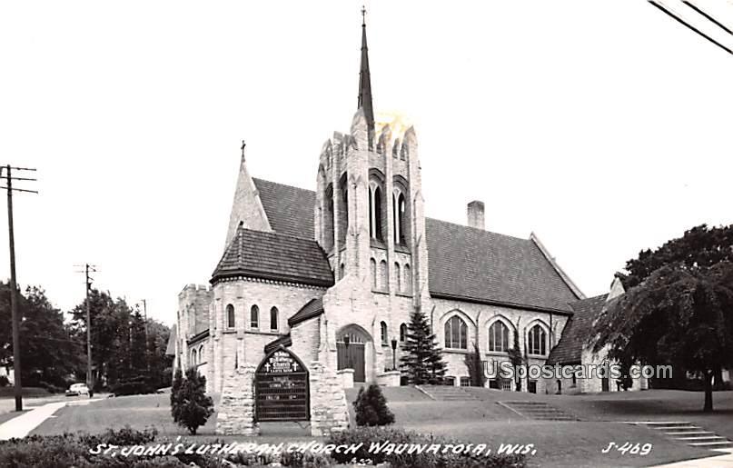 St John's Lutheran Church - Wauwatosa, Wisconsin WI Postcard