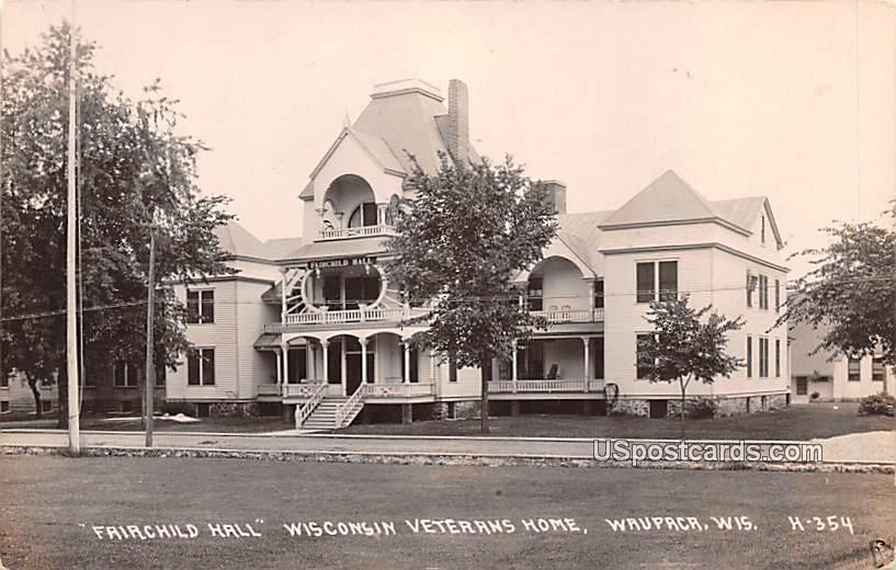 Fairchild Hall - Waupaca, Wisconsin WI Postcard
