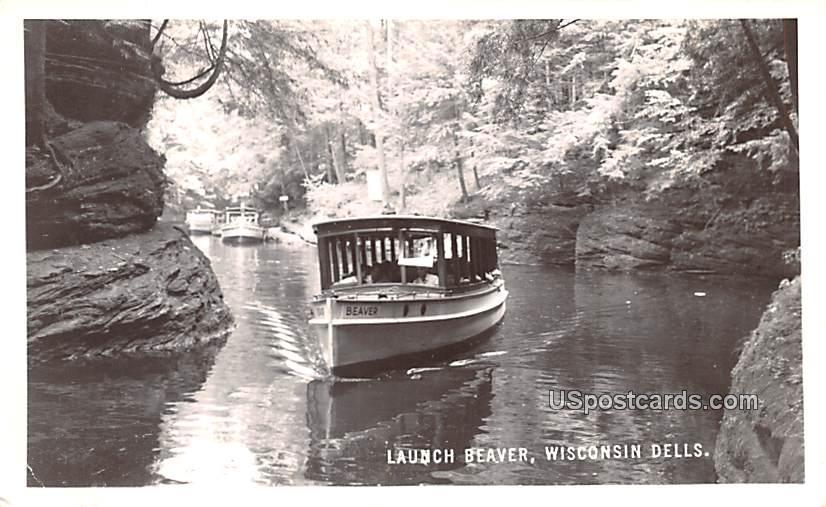 Launch Beaver - Wisconsin Dells Postcards, Wisconsin WI Postcard