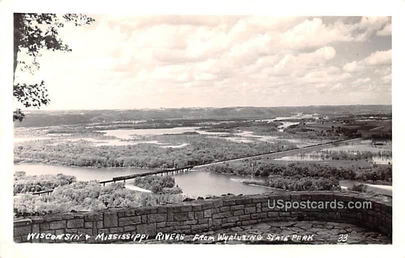 Wisconsin and Mississippi Rivers - Wyalusing State Park Postcard