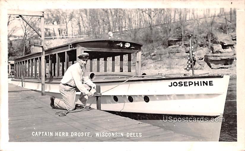Captain Herb Droste - Wisconsin Dells Postcards, Wisconsin WI Postcard