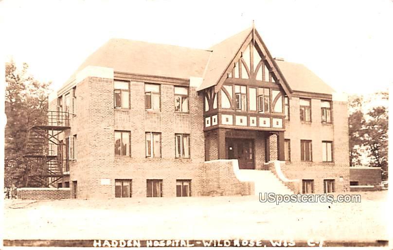 Hadden Hospital - Wild Rose, Wisconsin WI Postcard