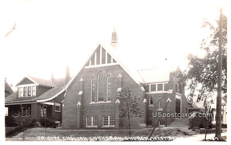Trinity English Lutheran Church - West Bend, Wisconsin WI Postcard