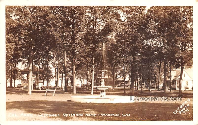 The Park - Waupaca, Wisconsin WI Postcard