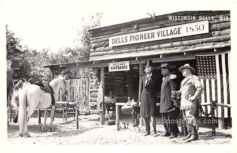Dells Pioneer Village - Wisconsin Dells Postcards, Wisconsin WI Postcard