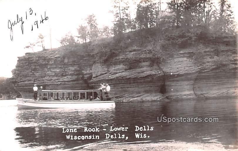 Lone Rock - Wisconsin Dells Postcards, Wisconsin WI Postcard