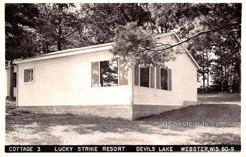 Cottage 3 Lucky Strike Resort - Webster, Wisconsin WI Postcard