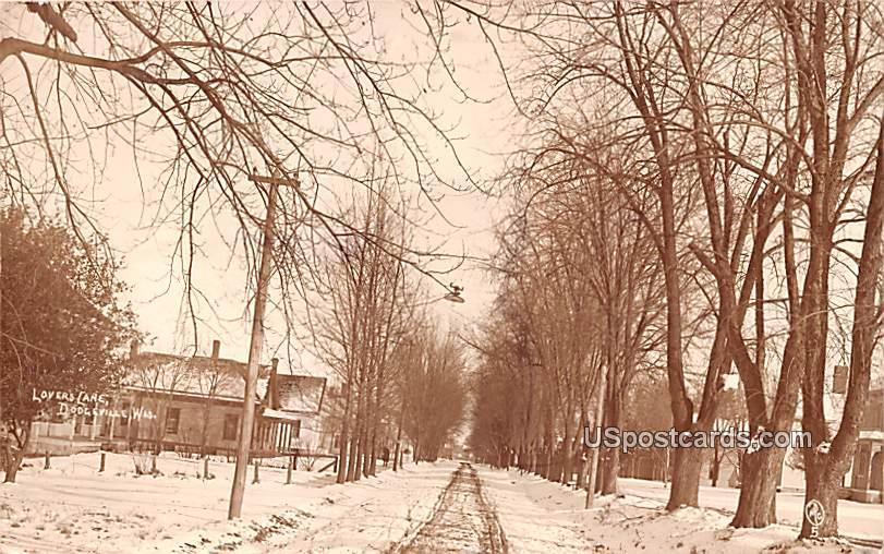 Winter Street Scene - Wausau, Wisconsin WI Postcard