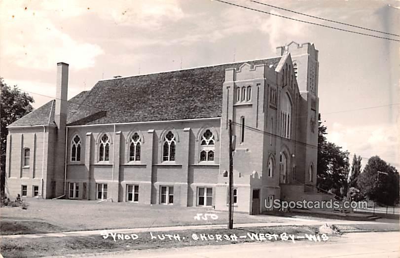 Synod Lutheran Church - Westby, Wisconsin WI Postcard