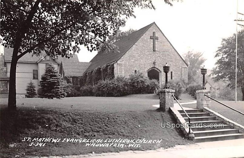St Mathews Evangelical Lutheran Church - Wauwatosa, Wisconsin WI Postcard