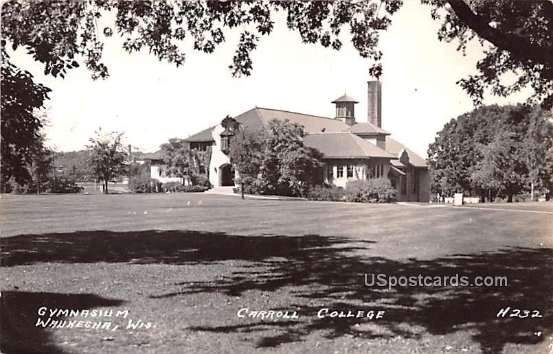 Gymnasium - Waukesha, Wisconsin WI Postcard