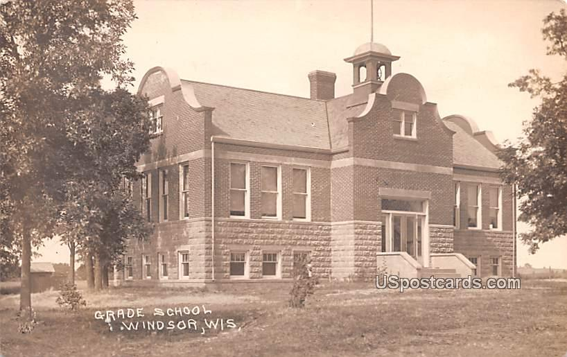 Grade School - Windsor, Wisconsin WI Postcard