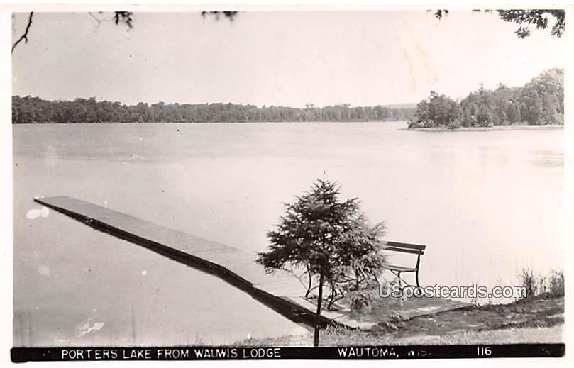 Porters Lake - Wautoma, Wisconsin WI Postcard