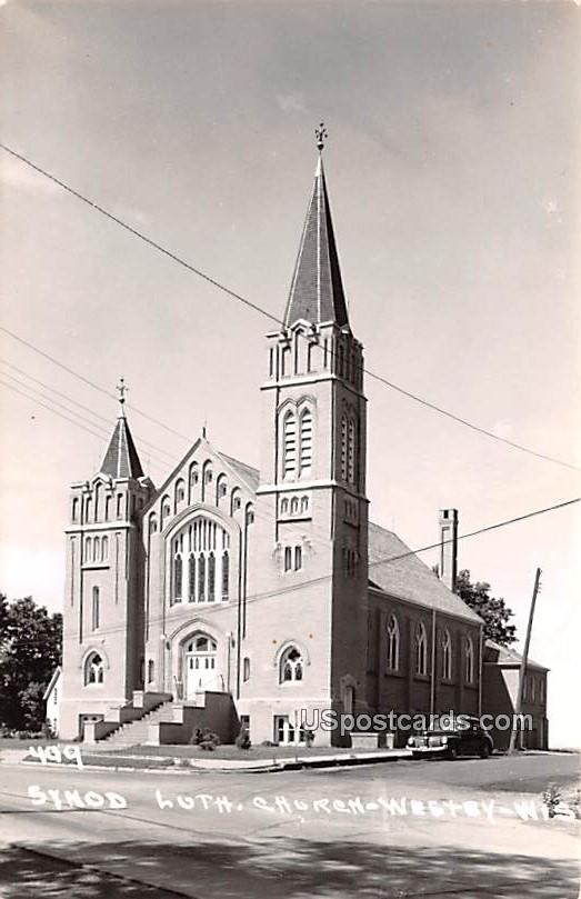 Synod Lutheran Church - Westsy, Wisconsin WI Postcard