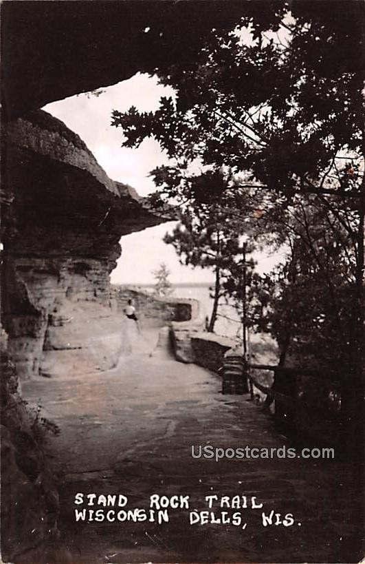 Stand Rock Trail - Wisconsin Dells Postcards, Wisconsin WI Postcard