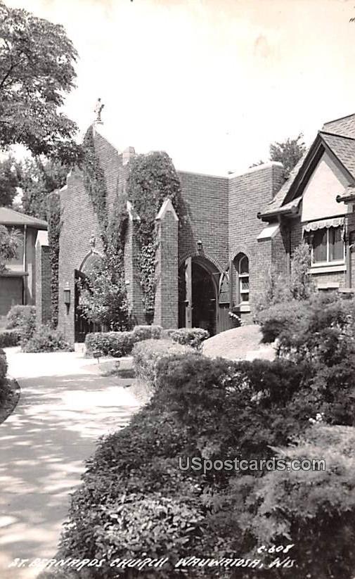 St Bernards Church - Wauwatosa, Wisconsin WI Postcard