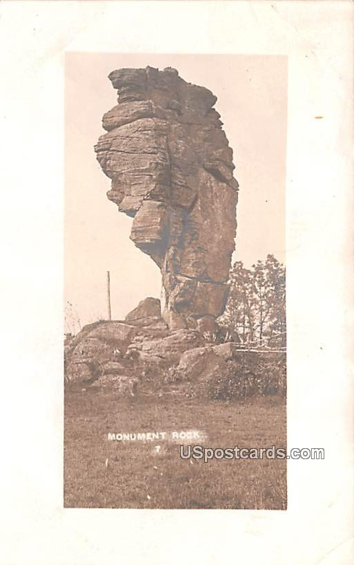 Monument Rock - Westby, Wisconsin WI Postcard