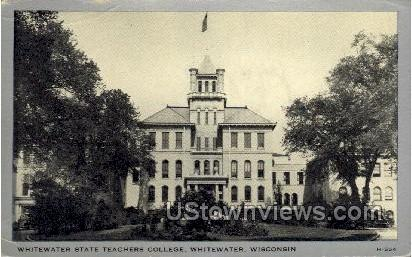 Whitewater State Teachers College  - Wisconsin WI Postcard