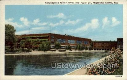 Consolidated Water Power & Paper Co. - Wisconsin Rapids Postcards, Wisconsin WI Postcard