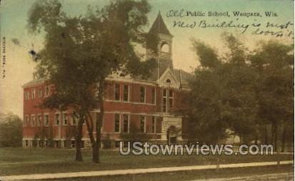 Public School - Waupaca, Wisconsin WI Postcard