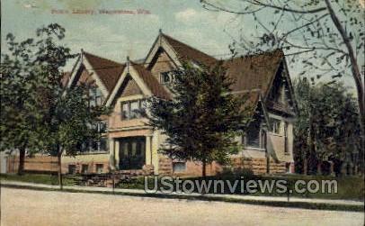 Public Library - Wauwatosa, Wisconsin WI Postcard