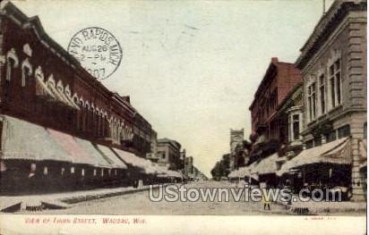 Third Street - Wausau, Wisconsin WI Postcard