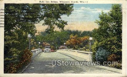 Belle Isle Bridge - Wisconsin Rapids Postcards, Wisconsin WI Postcard