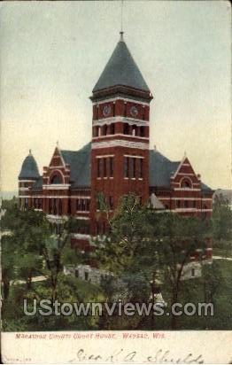 Marathon County Court House - Wausau, Wisconsin WI Postcard