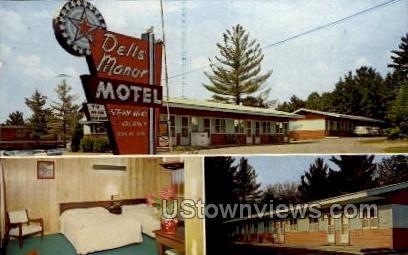Dells Manor Motel - Wisconsin Dells Postcards, Wisconsin WI Postcard